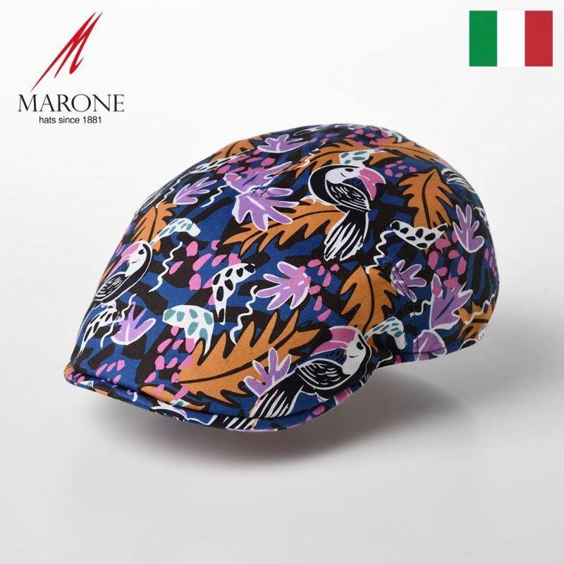 帽子 ハンチング MARONE(マローネ) One Panel Berretto Botanico(ワンパネルベレット ボタニコ)CT652 オレンジ