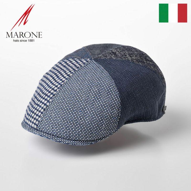 帽子 ハンチング MARONE(マローネ) Detroit Six Panel(デトロイト シックスパネル)CT656 ブルー