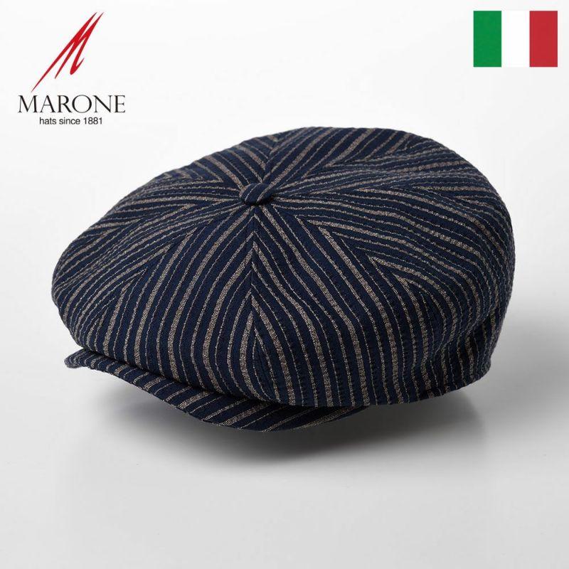 帽子 キャスケット MARONE(マローネ) Bristol Stripe(ブリストル ストライプ)CT657