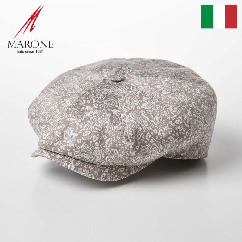 帽子 キャスケット MARONE(マローネ) Bristol Damasco(ブリストル ダマスコ)CT658 ベージュ