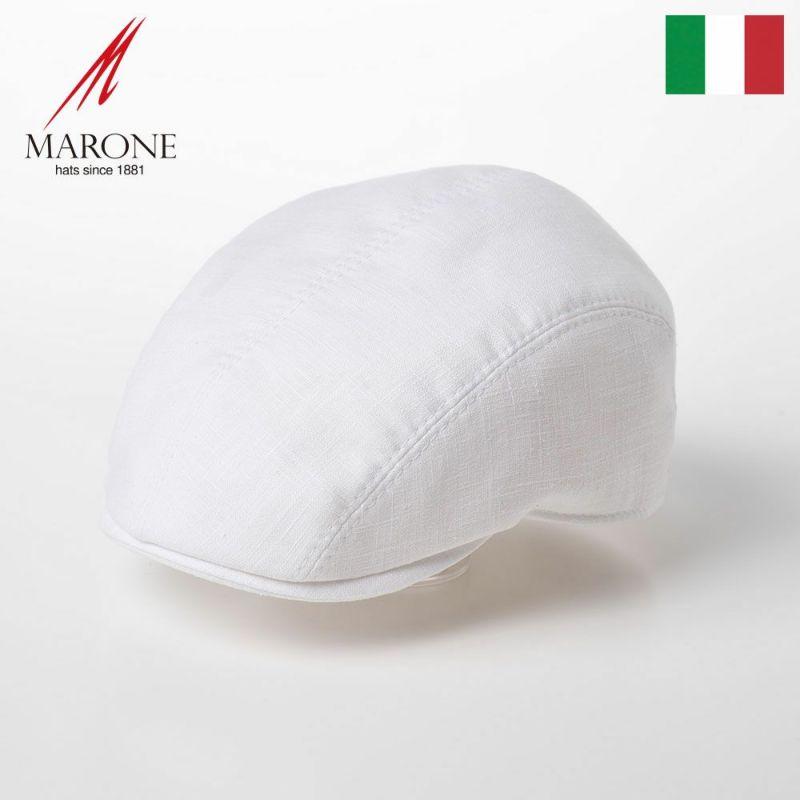 帽子 ハンチング MARONE(マローネ) Four Panel Berretto Linen(フォーパネルベレット リネン)CT660 ホワイト