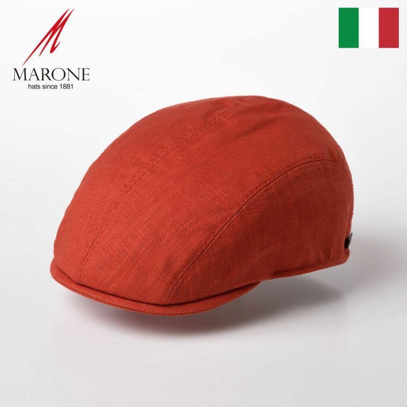 帽子 ハンチング MARONE(マローネ) Four Panel Berretto Linen(フォーパネルベレット リネン)CT660 オレンジ