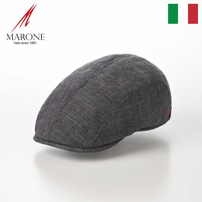 帽子 ハンチング MARONE(マローネ) Four Panel Berretto Cotton(フォーパネルベレット コットン)CT661 ブラック