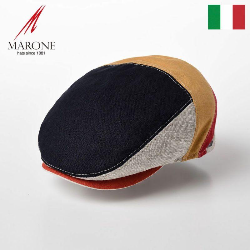 帽子 ハンチング MARONE(マローネ) Berretto Parigi Linen(ベレット パリギ リネン)CT663 マルチ