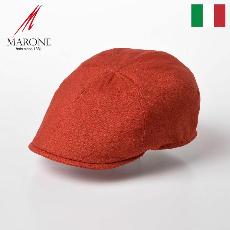 帽子 ハンチング MARONE(マローネ) Detroit Linen(デトロイト リネン)CT666 オレンジ