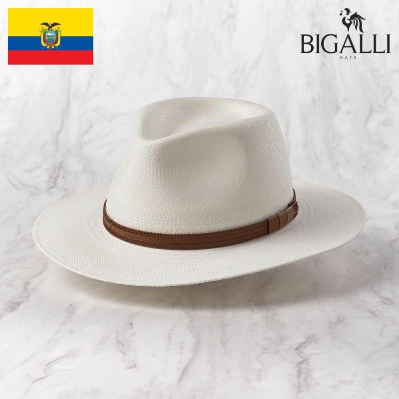 帽子 パナマハット BIGALLI(ビガリ) Vancouver TE(バンクーバー)ホワイト