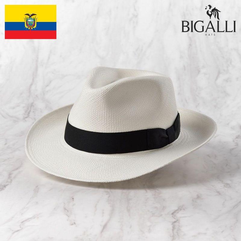 帽子 パナマハット BIGALLI(ビガリ) PRAGA(プラガ)ホワイト