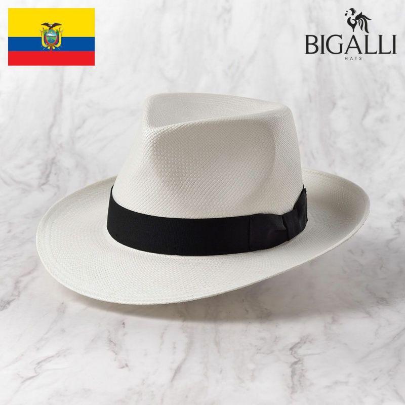 帽子 パナマハット BIGALLI(ビガリ) DENZEL(デンゼル)ホワイト
