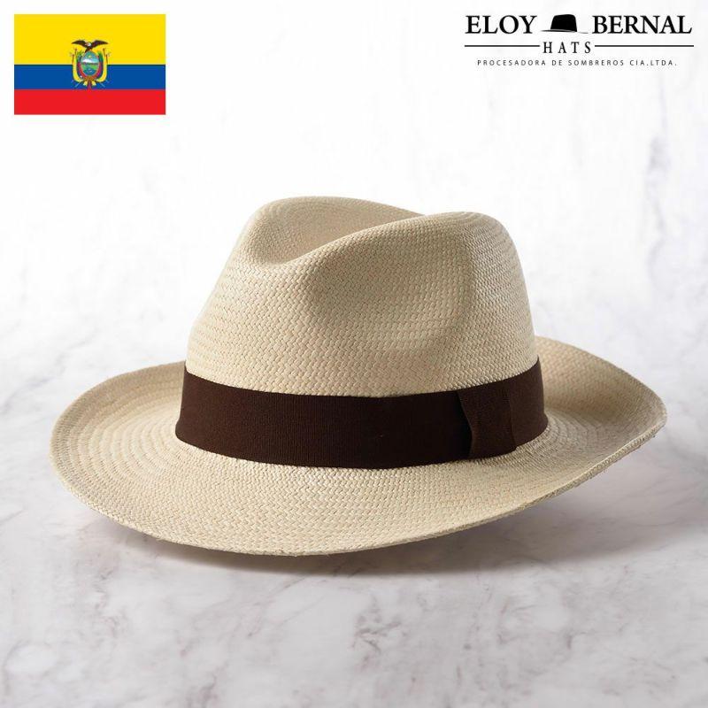 帽子 パナマハット ELOY BERNAL(エロイベルナール) PARIENTES(パリエンテ)ブラウン
