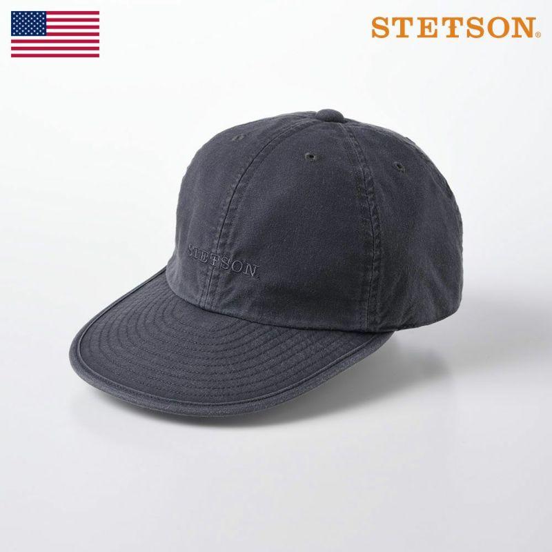 帽子 キャップ STETSON(ステットソン) CAP OVERDYE COTTON(キャップ オーバーダイ コットン SE077)ブラック