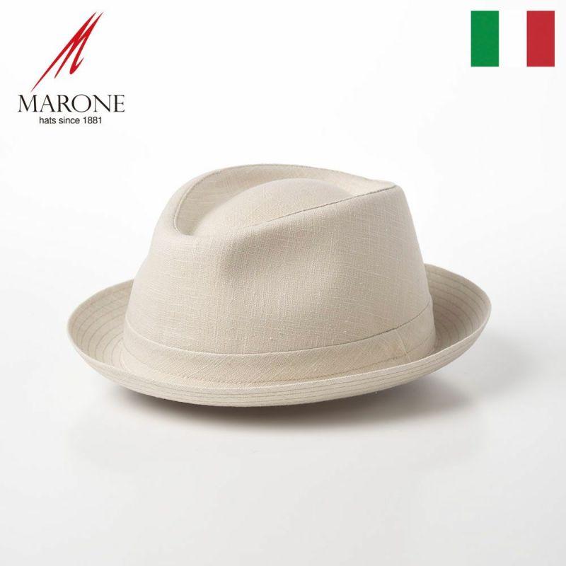 帽子 ソフトハット MARONE(マローネ) Trilby Linen(トリルビー リネン)MT294 ナチュラル