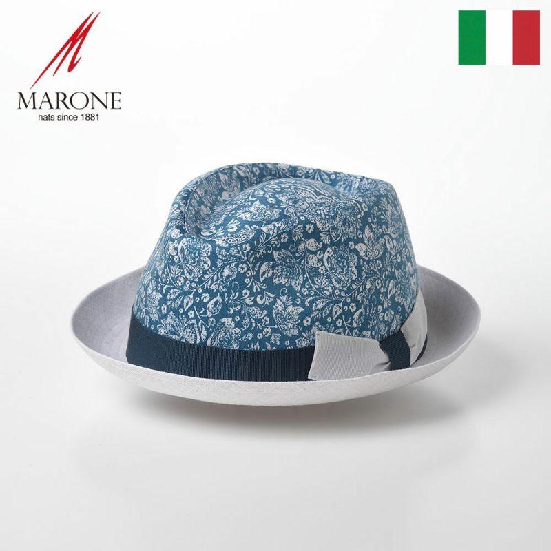 帽子 ソフトハット MARONE(マローネ) Trilby Damasco(トリルビー ダマスコ)MT298 ブルー