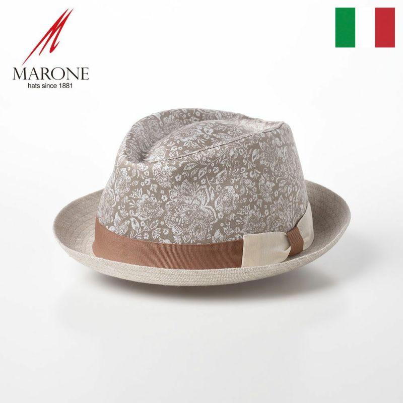 帽子 ソフトハット MARONE(マローネ) Trilby Damasco(トリルビー ダマスコ)MT298 ベージュ