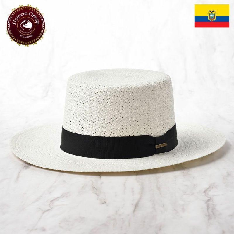 帽子 パナマハット Homero Ortega(オメロオルテガ) Boater Pendalino(ボーターペンダリーノ)ホワイト