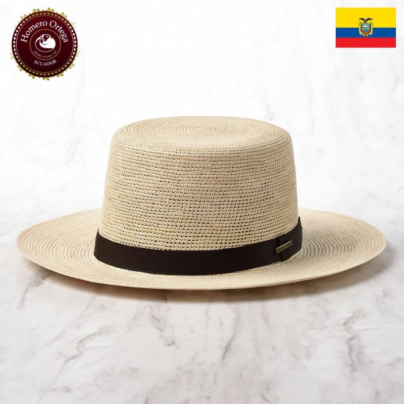 帽子 パナマハット Homero Ortega(オメロオルテガ) Boater Croche(ボータークロッシェ)ナチュラル