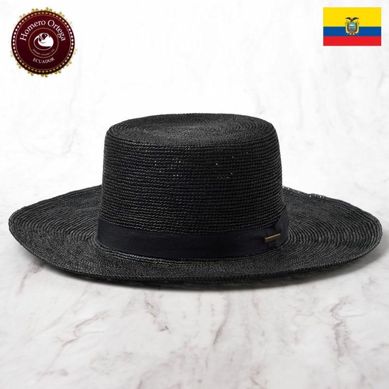 帽子 パナマハット Homero Ortega(オメロオルテガ) Amish Croche(アーミッシュクロッシェ)ブラック