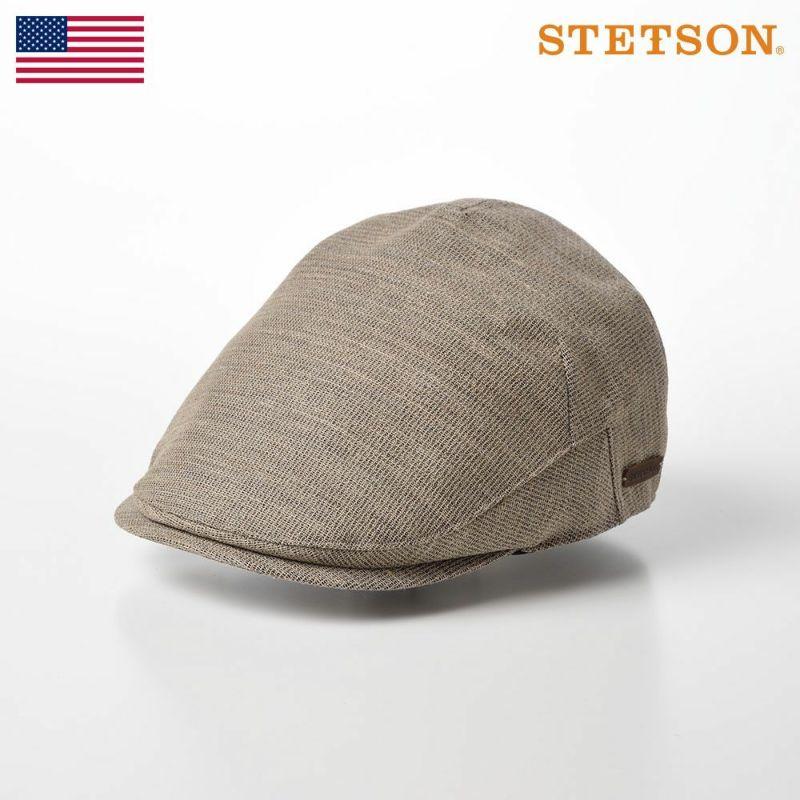 帽子 ニット STETSON(ステットソン) KARAMI MESH MONACO HUNTING(カラミメッシュ モナコハンチング)SE578 ベージュ