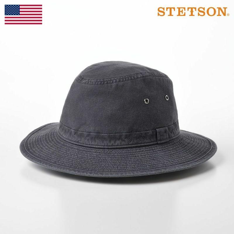 帽子 ソフトハット STETSON(ステットソン) COTTON SAFARI HAT(コットンサファリハット)SE580 ブラック