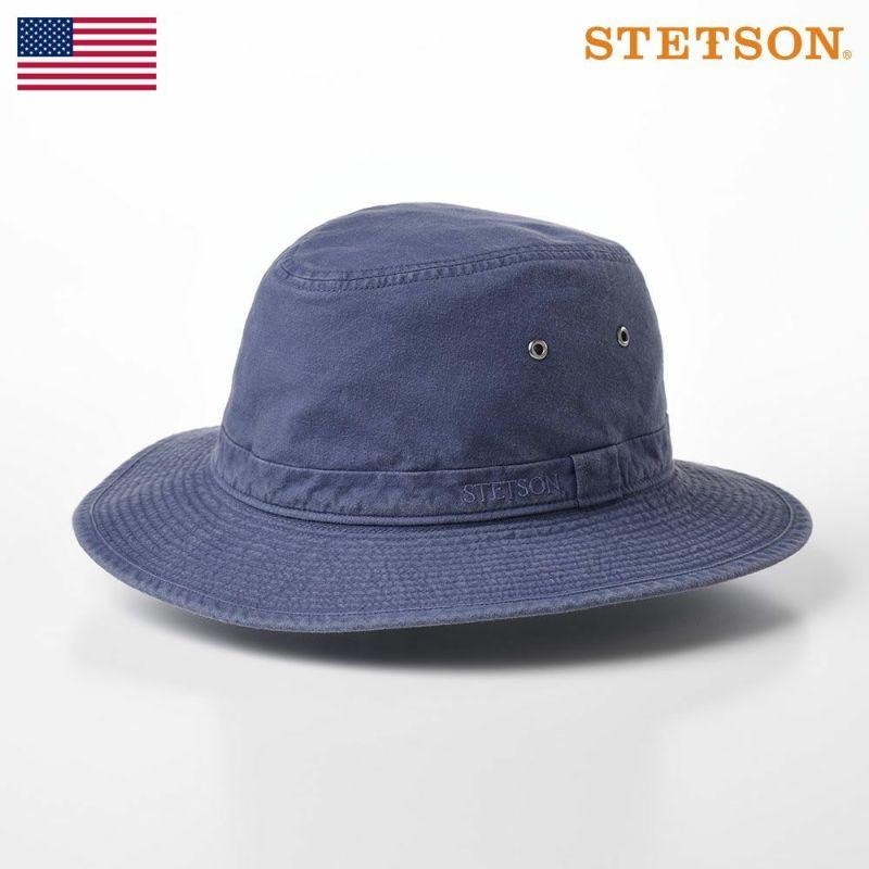 帽子 ソフトハット STETSON(ステットソン) COTTON SAFARI HAT(コットンサファリハット)SE580 ネイビー