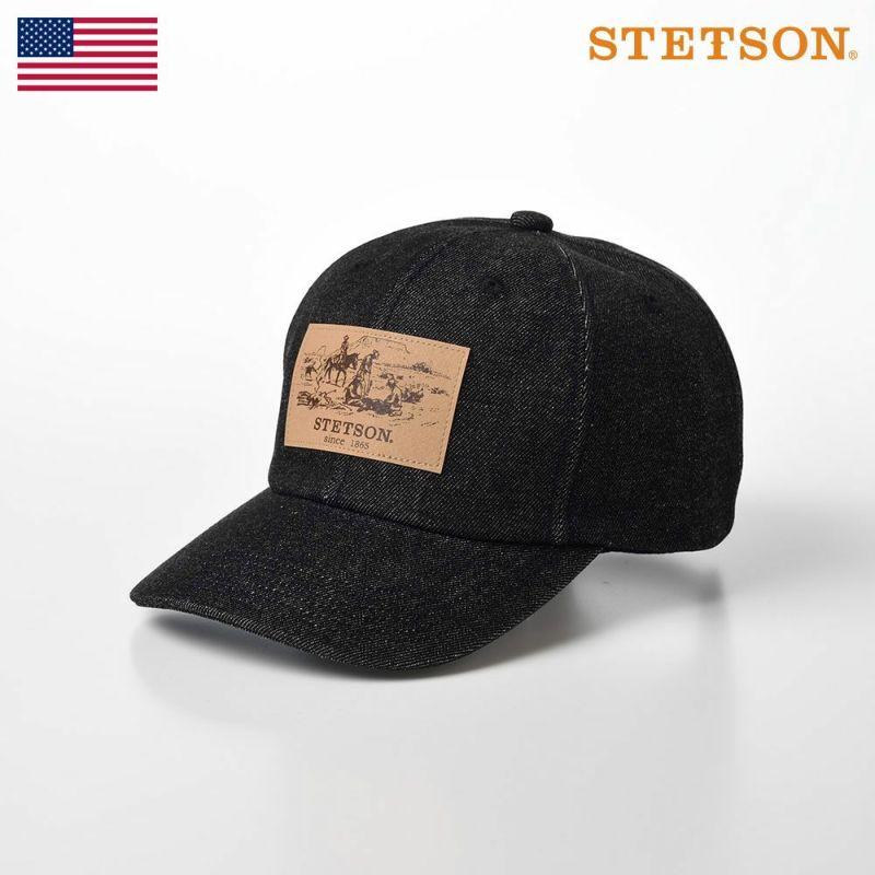 帽子 キャップ STETSON(ステットソン) DENIM CAP(デニムキャップ)SE589 ブラック