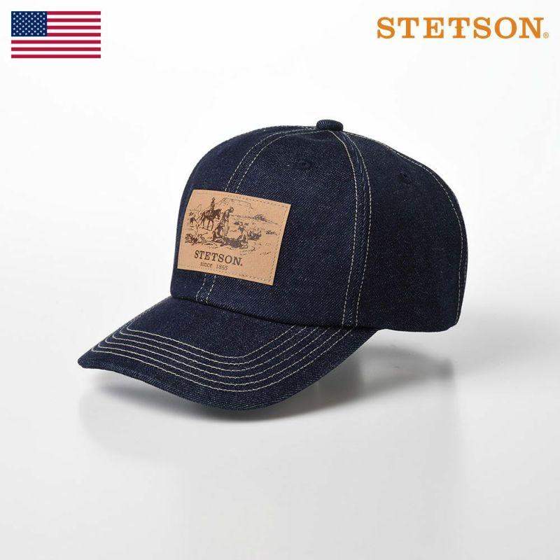 帽子 キャップ STETSON(ステットソン) DENIM CAP(デニムキャップ)SE589 ネイビー
