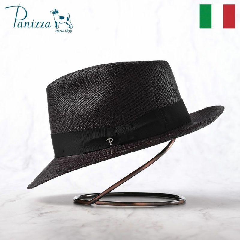 帽子 パナマハット Panizza(パニッツァ) MINDO CARLINO(ミンド カルリーノ)ブラック