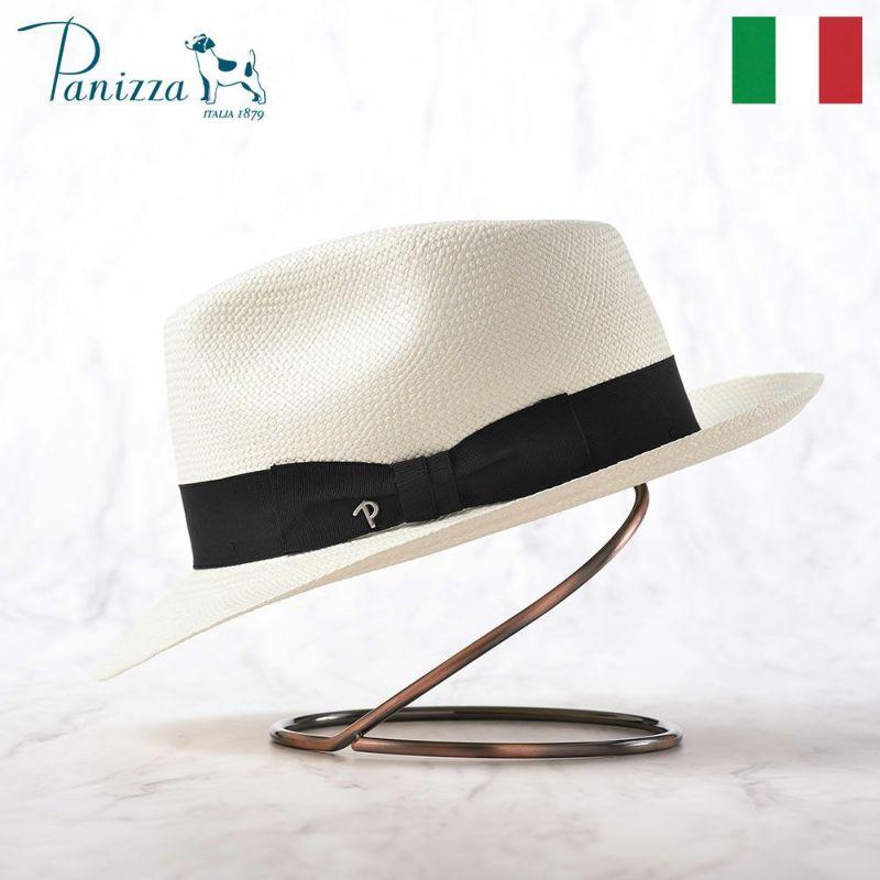 帽子 パナマハット Panizza(パニッツァ) MINDO CARLINO(ミンド カルリーノ)ホワイト