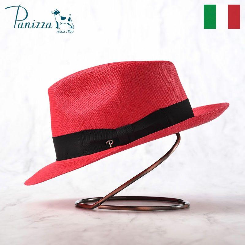 帽子 パナマハット Panizza(パニッツァ) MINDO CARLINO(ミンド カルリーノ)レッド