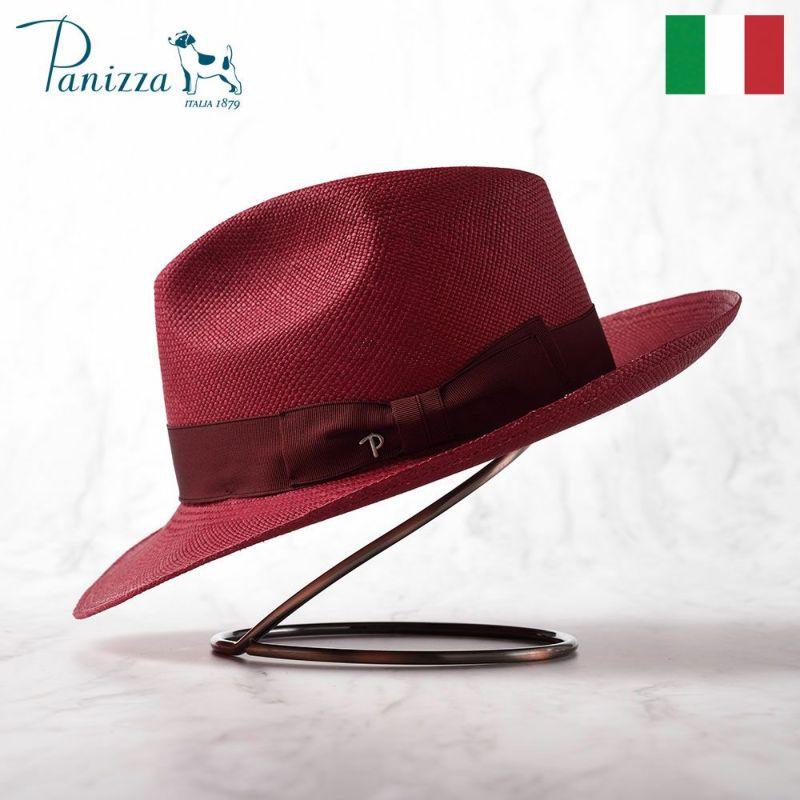 帽子 パナマハット Panizza(パニッツァ) PUYO LANZA(プジョ ランツァ)ワインレッド