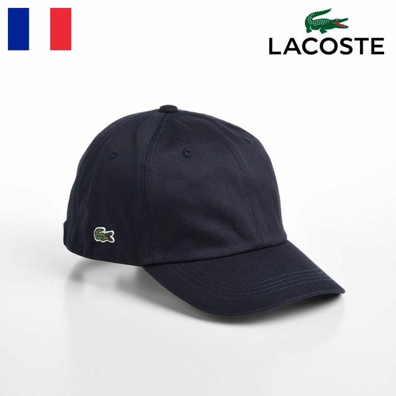 帽子 ベースボールキャップ LACOSTE(ラコステ) COTTON TWILL CAP(コットンツイルキャップ) L1149 ネイビー