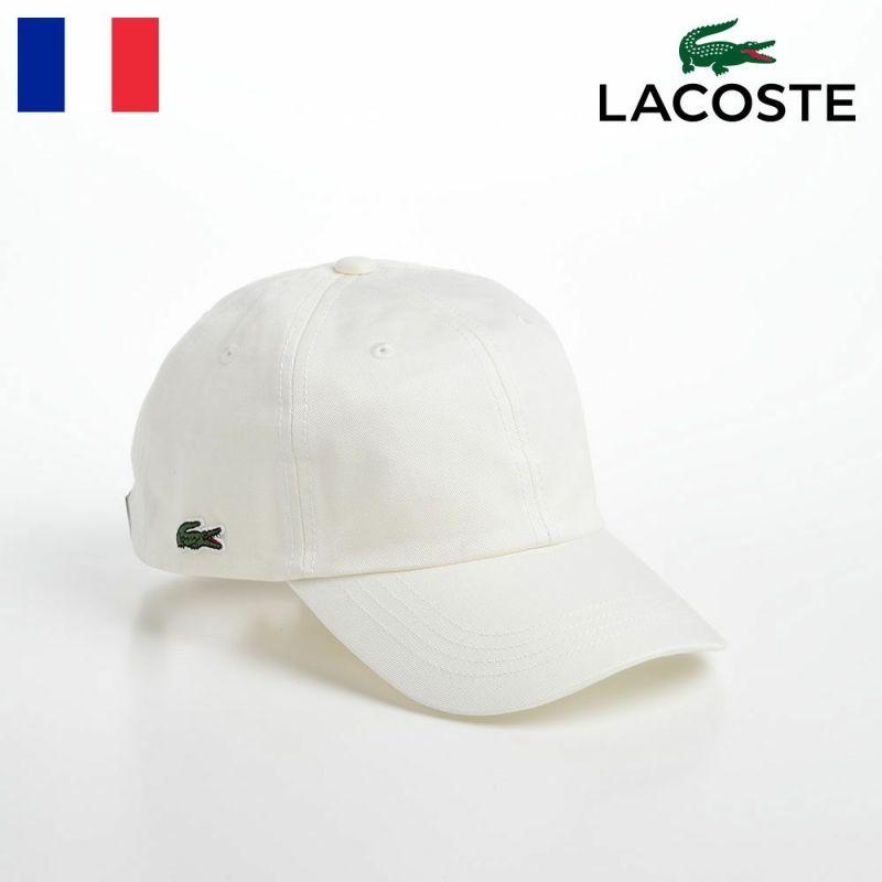 帽子 ベースボールキャップ LACOSTE(ラコステ) COTTON TWILL CAP(コットンツイルキャップ) L1149 オフホワイト