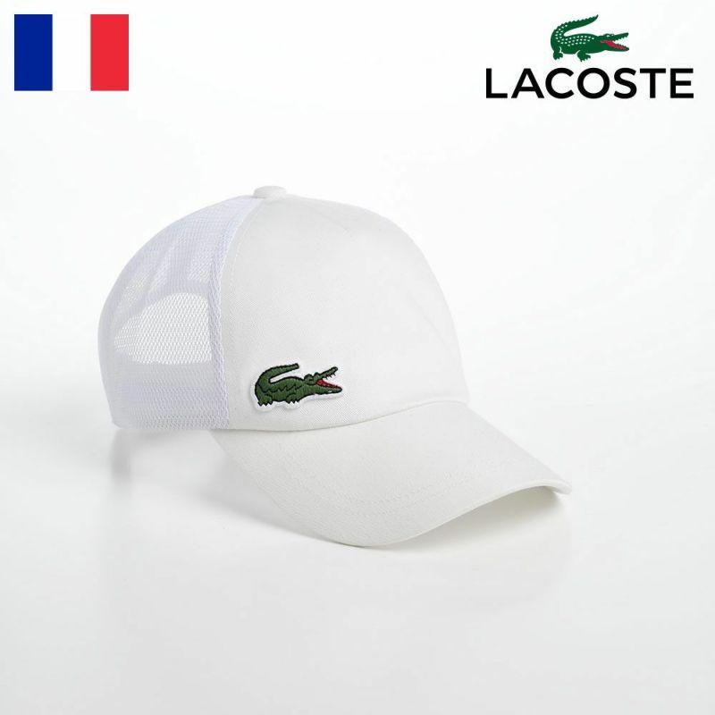 帽子 ベースボールキャップ LACOSTE(ラコステ) LOGO PATCH MESH CAP(ロゴパッチ メッシュキャップ) L1170 ホワイト