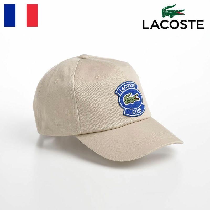 帽子 ベースボールキャップ LACOSTE(ラコステ) CLUB WAPPEN CAP(クラブワッペンキャップ) L1171 ベージュ