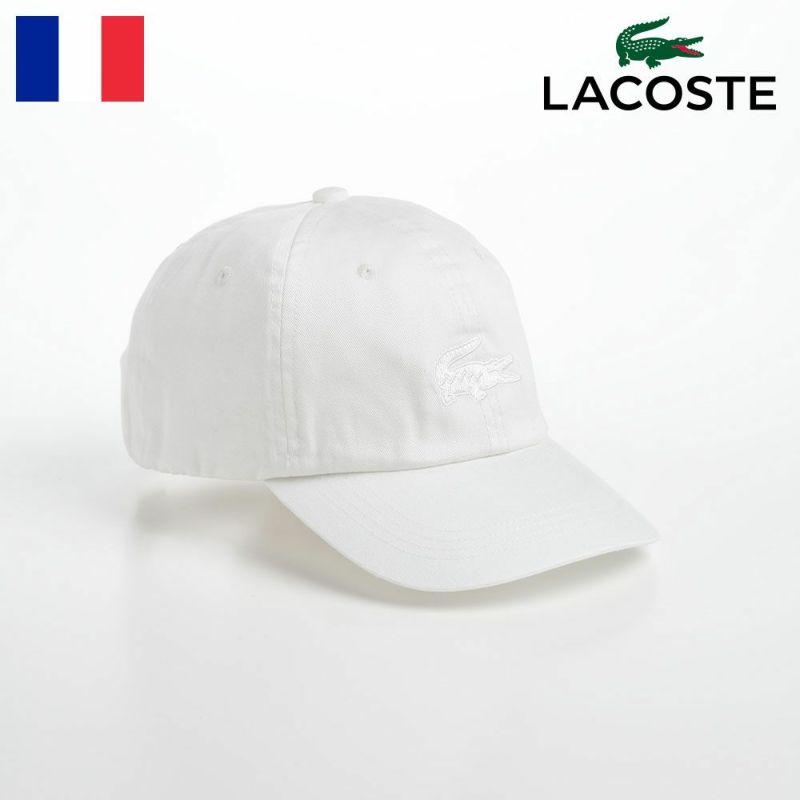 帽子 ベースボールキャップ LACOSTE(ラコステ) ONE TONE LOGO CAP(ワントーンロゴキャップ) L1180 ホワイト