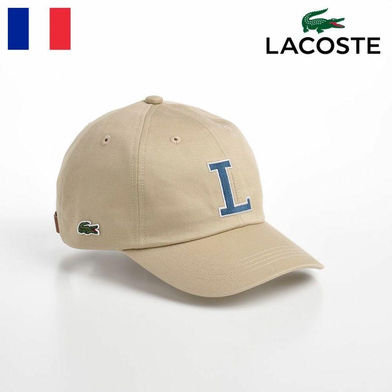 帽子 ベースボールキャップ LACOSTE(ラコステ) INITIAL APPLIQUE CAP(イニシャルアップリケキャップ) L1182 ベージュ