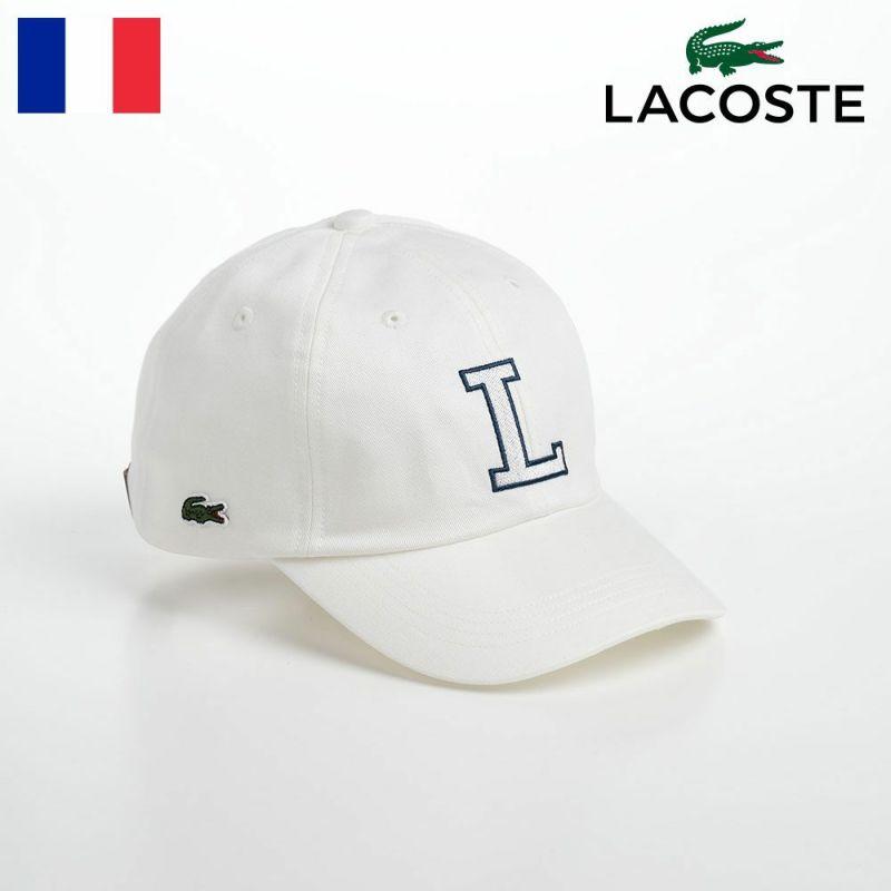 帽子 ベースボールキャップ LACOSTE(ラコステ) INITIAL APPLIQUE CAP(イニシャルアップリケキャップ) L1182 オフホワイト