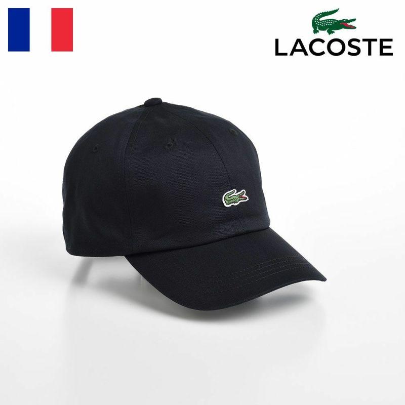 帽子 ベースボールキャップ LACOSTE(ラコステ) BASIC COTTON CAP(ベーシックコットンキャップ) L1183 ブラック