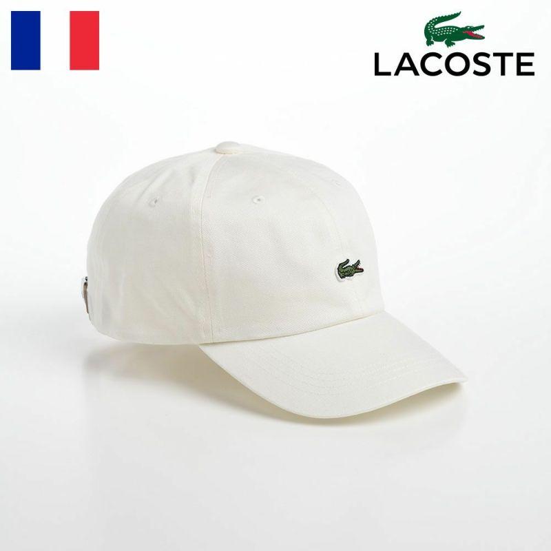 帽子 ベースボールキャップ LACOSTE(ラコステ) BASIC COTTON CAP(ベーシックコットンキャップ) L1183 オフホワイト
