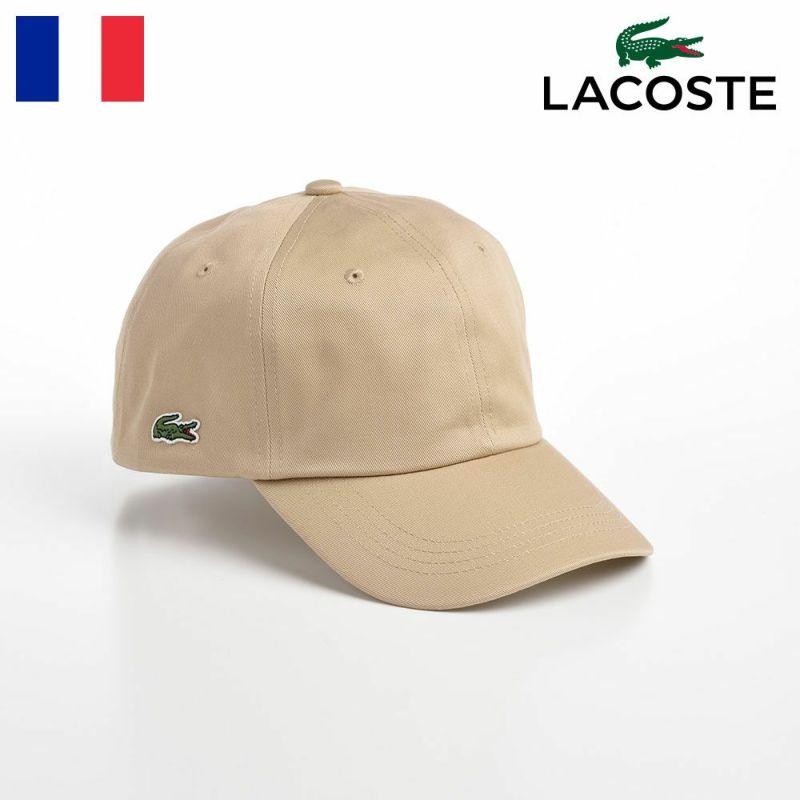 帽子 ベースボールキャップ LACOSTE(ラコステ) SIDE POINT COTTON CAP(サイドポイント コットンキャップ) L1184 ベージュ