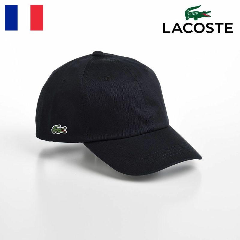 帽子 ベースボールキャップ LACOSTE(ラコステ) SIDE POINT COTTON CAP(サイドポイント コットンキャップ) L1184 ブラック