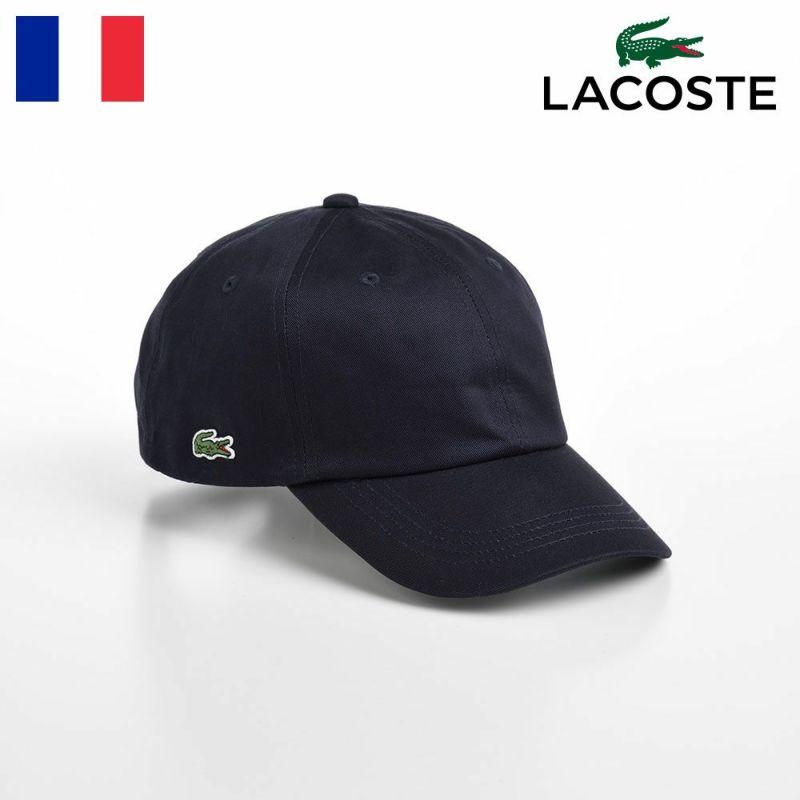 帽子 ベースボールキャップ LACOSTE(ラコステ) SIDE POINT COTTON CAP(サイドポイント コットンキャップ) L1184 ネイビー