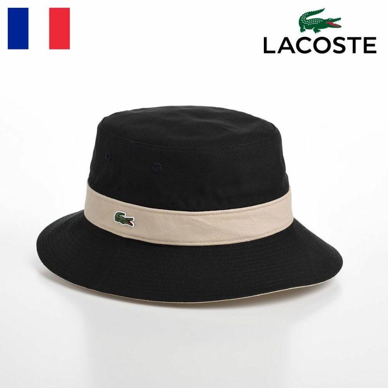 帽子 布帛ソフトハット LACOSTE(ラコステ) COTTON REVERSIBLE SAFARI(コットンリバーシブルサファリ) L1131 ブラック