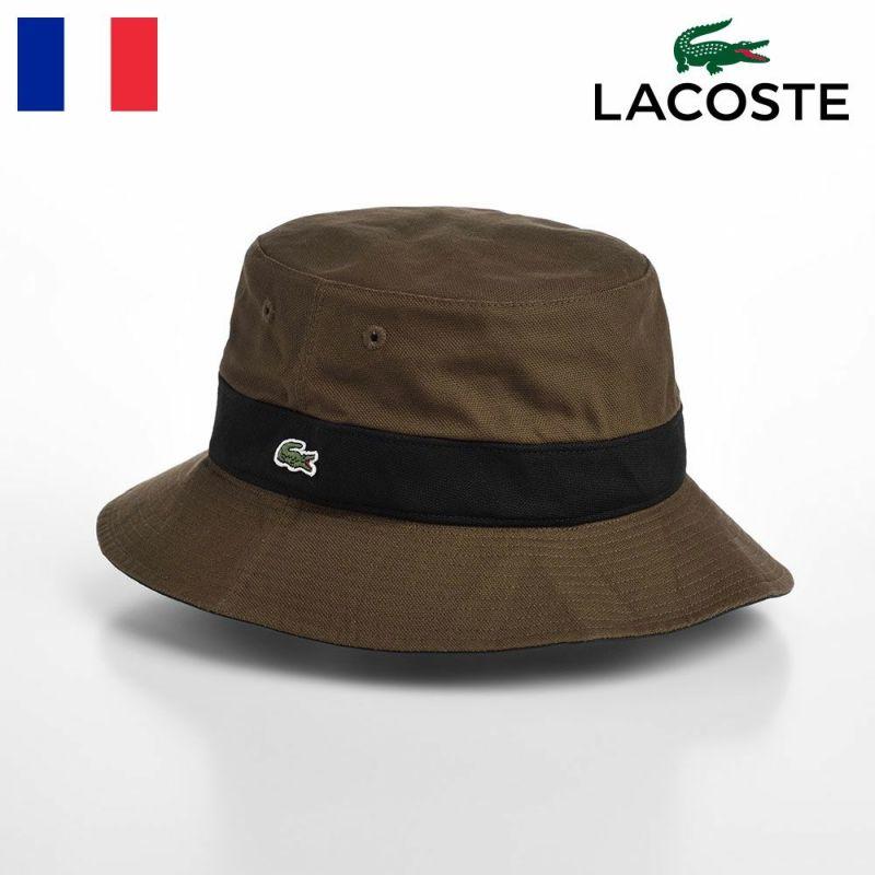 帽子 布帛ソフトハット LACOSTE(ラコステ) COTTON REVERSIBLE SAFARI(コットンリバーシブルサファリ) L1131 カーキ