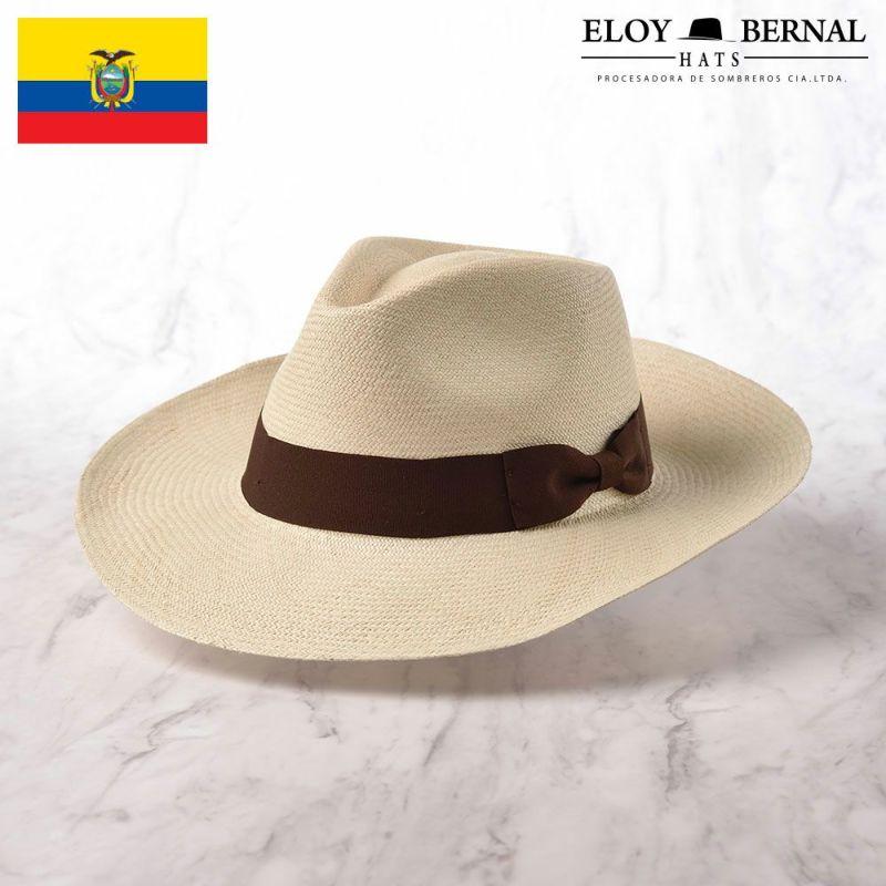 帽子 パナマハット ELOY BERNAL(エロイ ベルナール) LARGO(ラーゴ)ブラウン