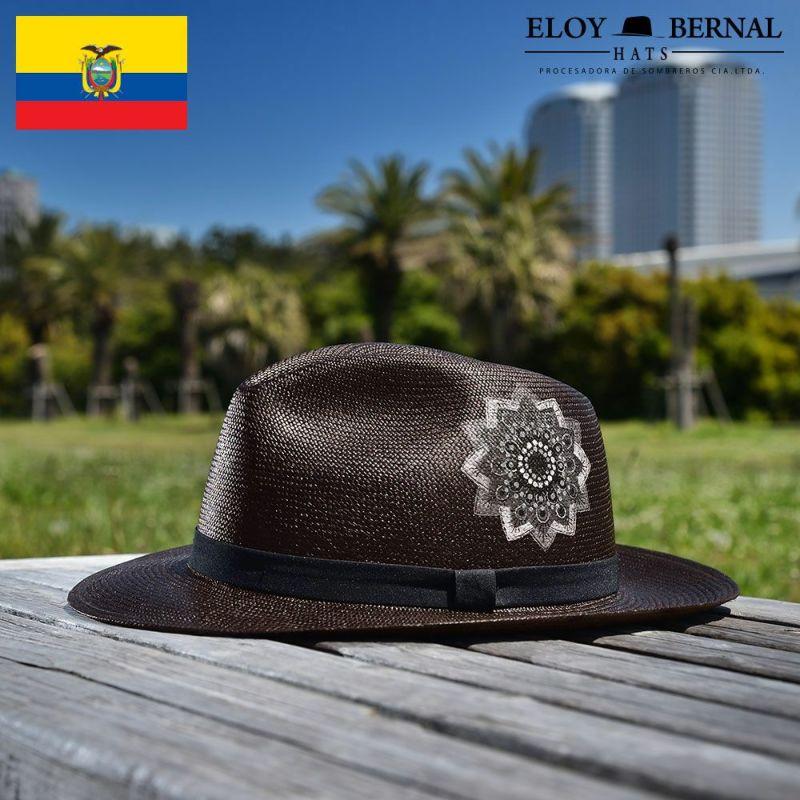 帽子 パナマハット ELOY BERNAL(エロイ ベルナール) CRESTA(クレスタ)ブラック