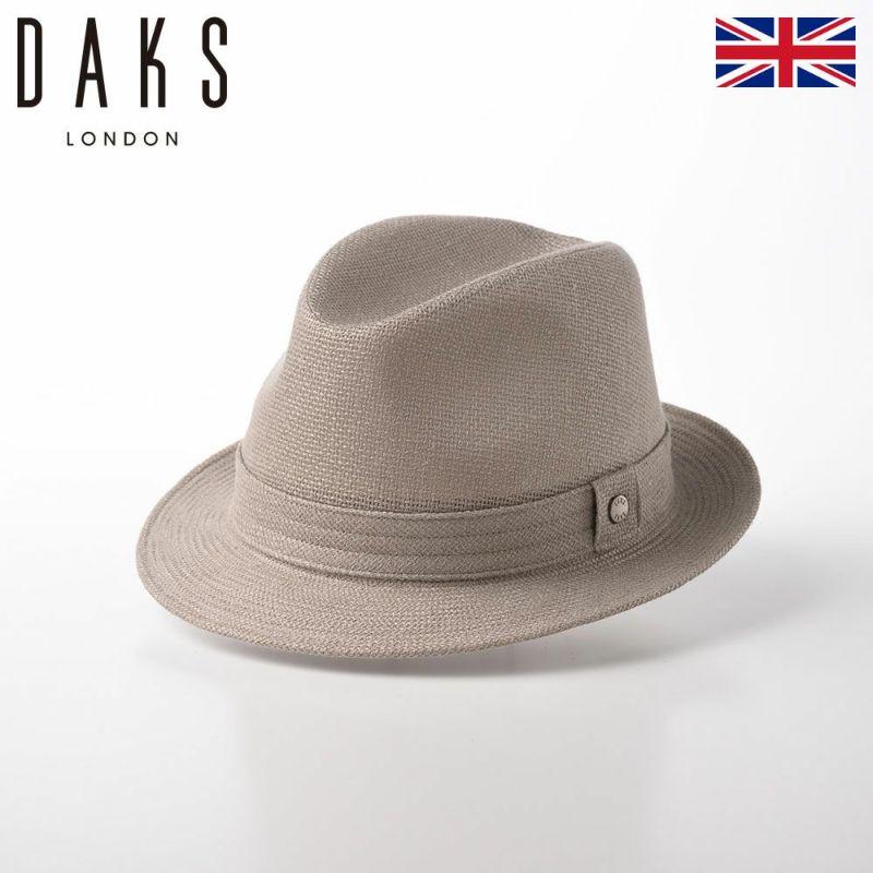 帽子 布帛ソフトハット DAKS(ダックス) Trilby Linen Mesh(トリルビー リネンメッシュ) D1523 ベージュ
