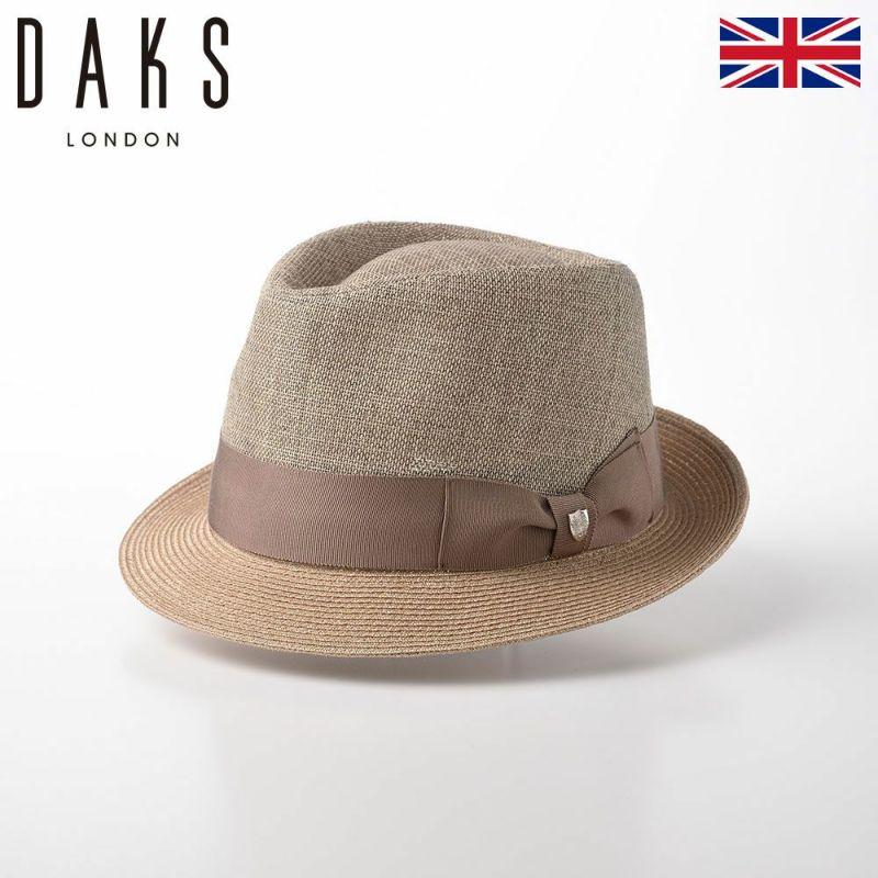 帽子 布帛ソフトハット DAKS(ダックス) Trilby WASHI(トリルビー 和紙) D1614 ベージュ