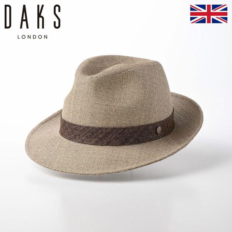 帽子 布帛ソフトハット DAKS(ダックス) New Lescaut WASHI(ニューレスコー 和紙) D1615 ベージュ