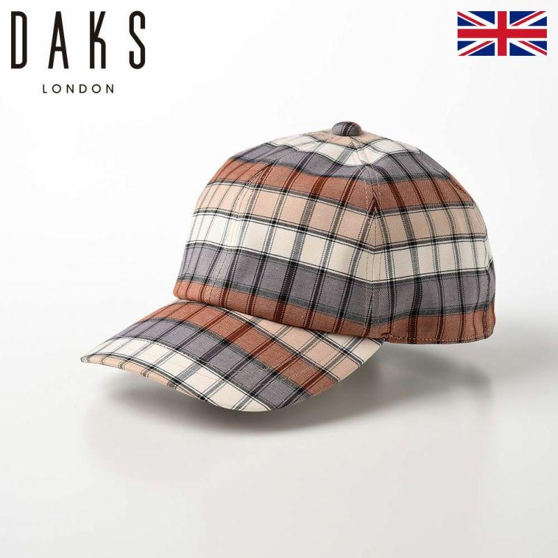 帽子 ベースボールキャップ DAKS(ダックス) Cap 125th Check(キャップ 125thチェック) D1627 ベージュ