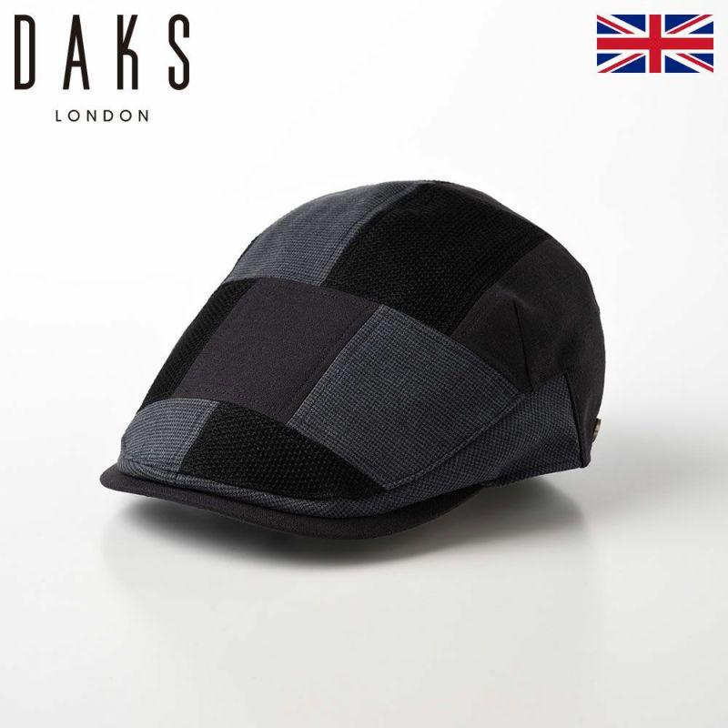 帽子 ハンチング DAKS(ダックス) Hunting Patchwork(ハンチング パッチワーク) D1665 チャコールグレー